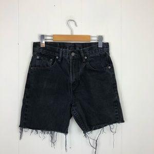 Levi's 516 Cut-Off Distressed Denim Shorts Sz 26